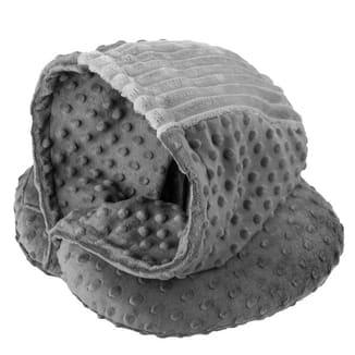 Подушка DROM Luxury для путешествий с капюшоном Серый (10201)