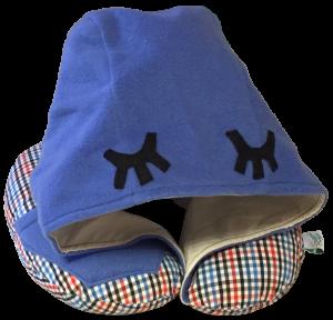 Подушка Organic Toys для путешествий с капюшоном Синий (20102)