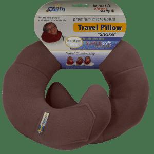 Подушка DRÖM змейка для путешествий Коричневый (11005)