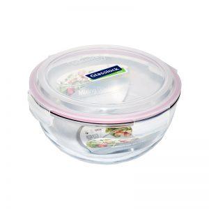 Купить Glasslock круглый контейнер 1 л (MBCB-100), емкость, судок, контейнер Glasslock, круглый пищевой судок, герметичный контейнер, емкость из стекла