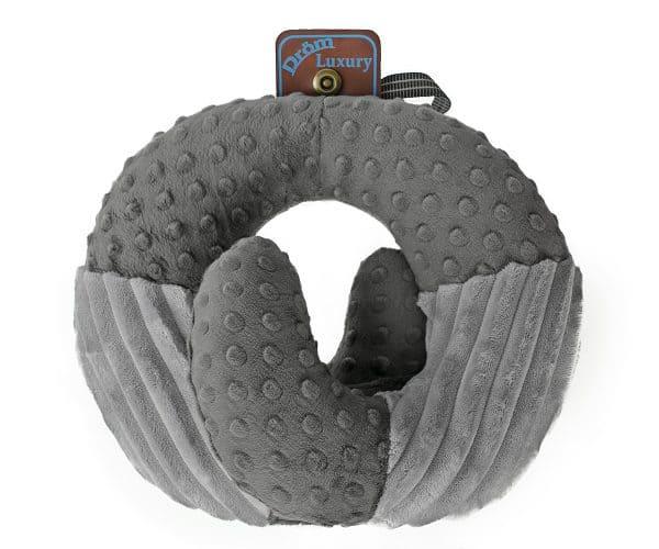 Подушка DRÖM Luxury Змейка для путешествий Серый (10301)
