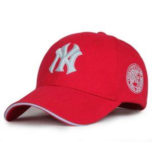 Кепка бейсболка NY Cap 1 (New York) 55-61 см красная хлопок (333334)