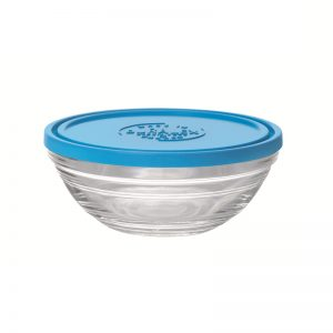 Салатник c крышкой Duralex Lys круглый 500 мл 13.5 см (9065AM12)