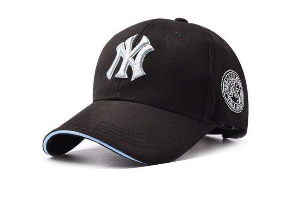 Кепка бейсболка NY Cap 1 (New York) 55-61 см черная хлопок (333331)