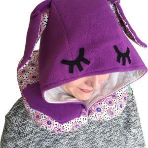 Дорожная подушка Organic Toys с капюшоном фиолетовая (20202)