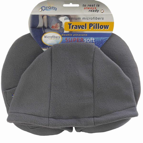 Подушка для путешествий DROM Темно-серый (13001)