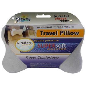 Подушка для путешествий DROM косточка Светло-серый (14002)