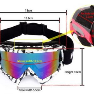 Горнолыжная маска WolfBike Advanced UV400 с антизапотевателем бело-черная (333350)