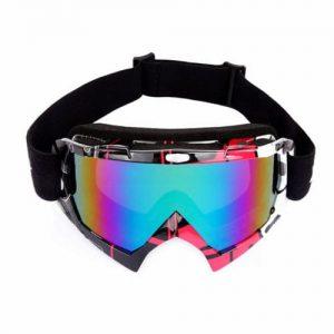 Горнолыжная маска WolfBike Advanced UV400 с антизапотевателем красная (333351)