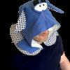 Подушка для путешествий Organic Toys с капюшоном синяя (20301)