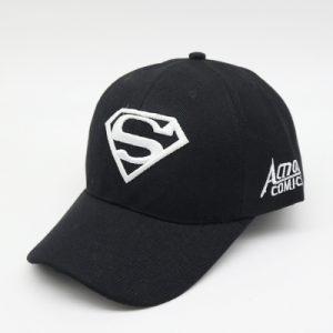 Кепка бейсболка Супермен (Superman) 55-61 см черно-белая хлопок (333395)
