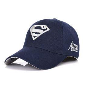 Кепка бейсболка Супермен (Superman) 55-61 см сине-белая хлопок (333396)